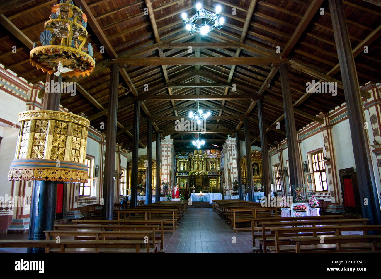 Bolivia.Colonial Church of San José de Chiquitos (Chiquitania). Old Jesuit Mission(1698). UNESCO World Heritage - Stock Image