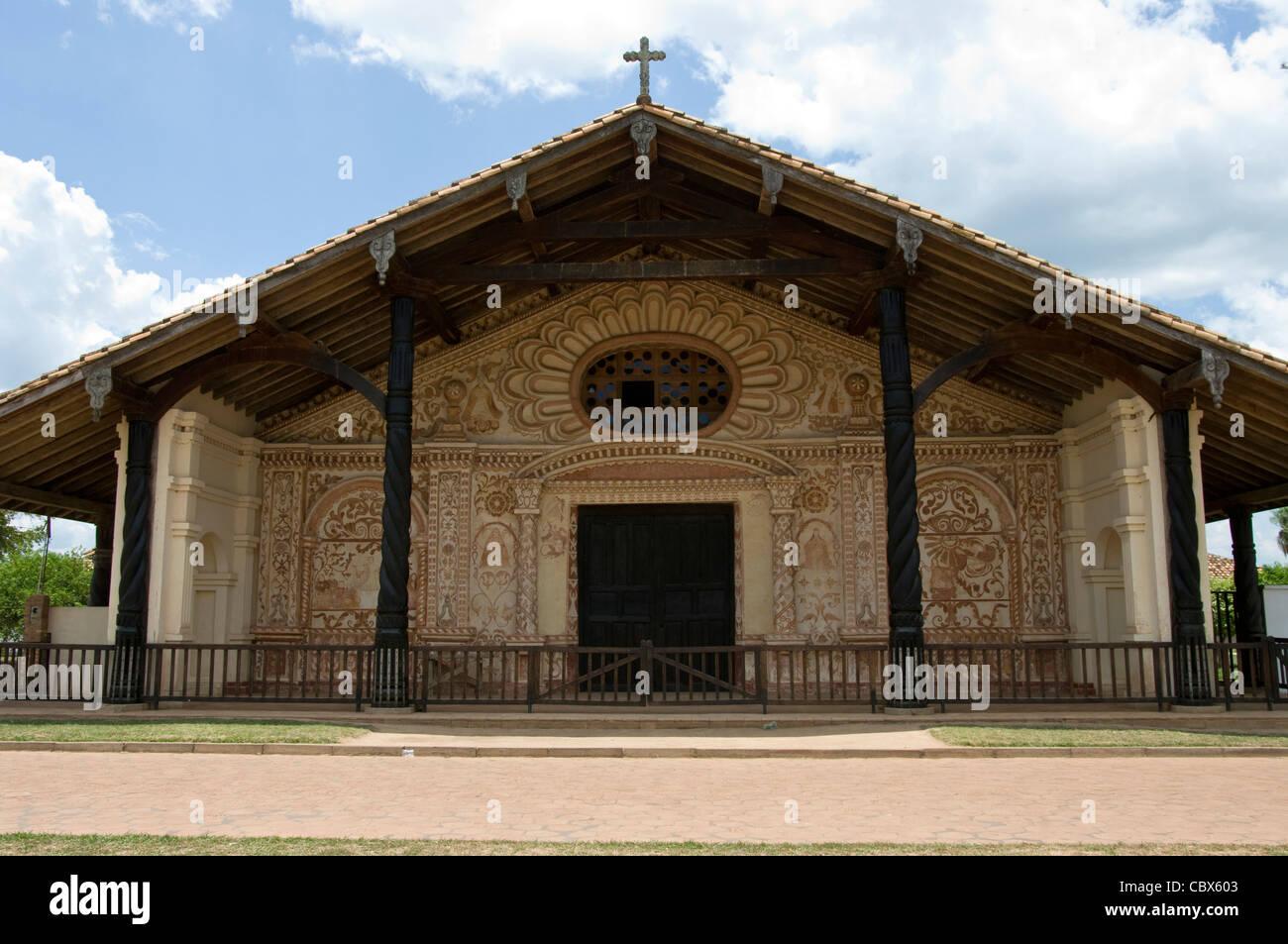 Bolivia. Santa Cruz.. Colonial Church of San Rafael (Chiquitania). Old Jesuit Mission(1695). UNESCO World Heritage - Stock Image
