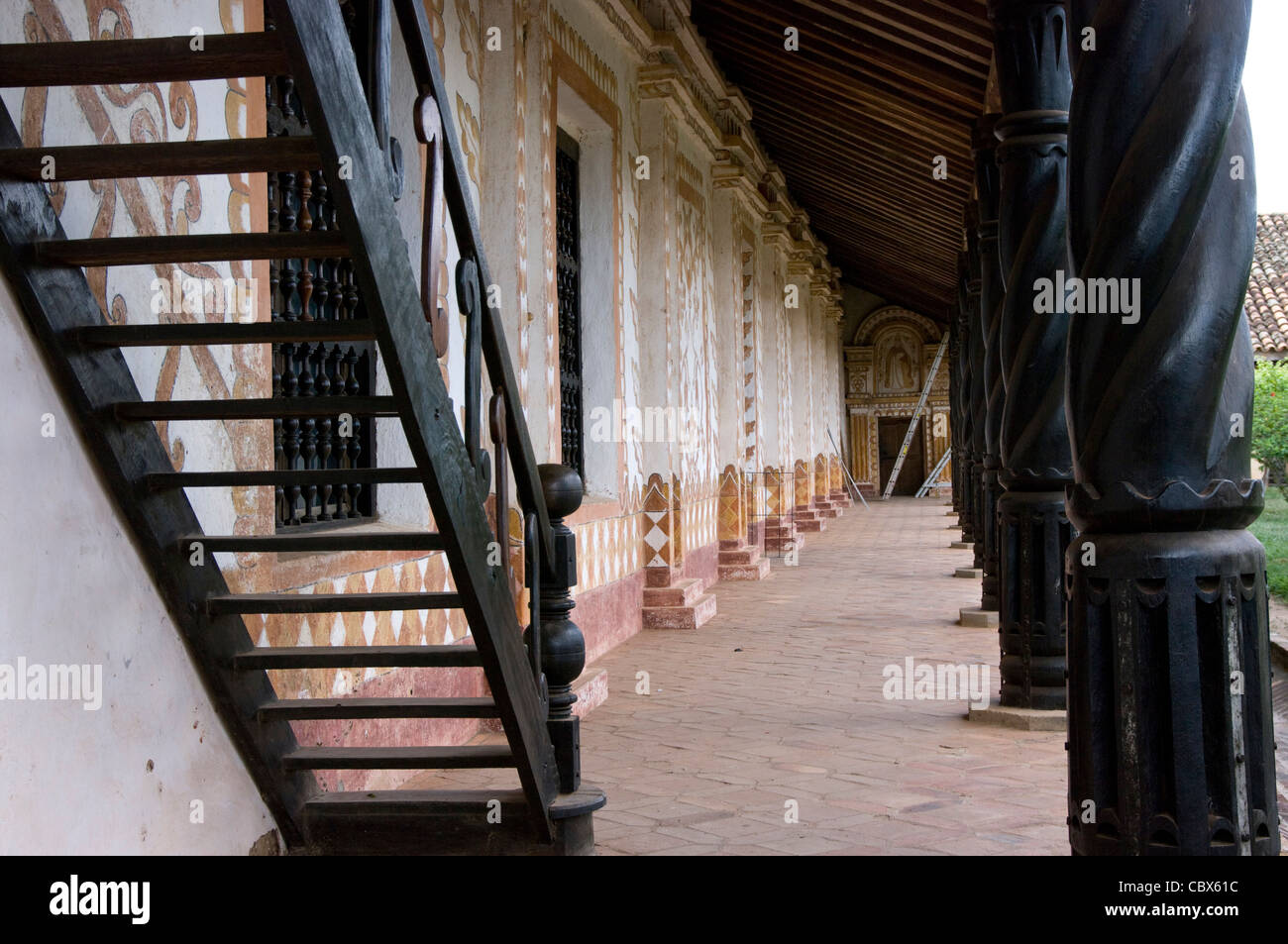 Bolivia. Santa Cruz.. Colonial Church of San Rafael (Chiquitania). Old Jesuit Mission(1695). UNESCO World Heritage - Stock Image