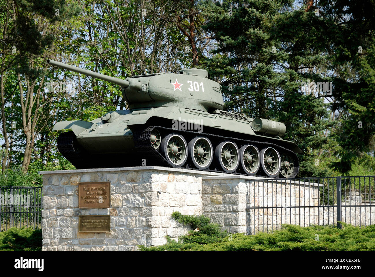 Soviet military cemetery in Baruth south of Berlin. - Stock Image