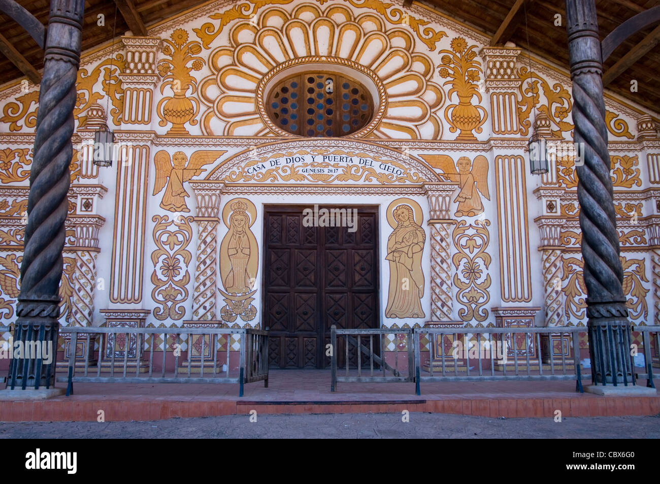 Bolivia. Colonial Church of Concepción (Chiquitania). Old Jesuitical Mission(1699). UNESCO World Heritage Site. - Stock Image