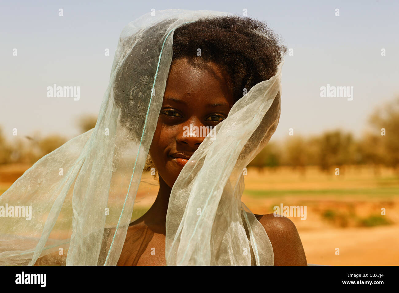 Girl in Mali, Africa - Stock Image