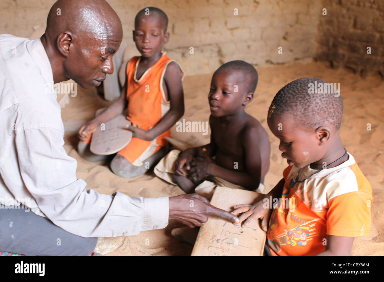 Young boys in a koran school in Djenne, Mali, west Africa - Stock Image