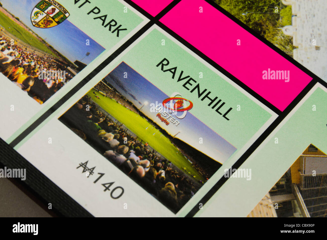 Belfast Monopoly: Ravenhill Rugby Ground - Stock Image