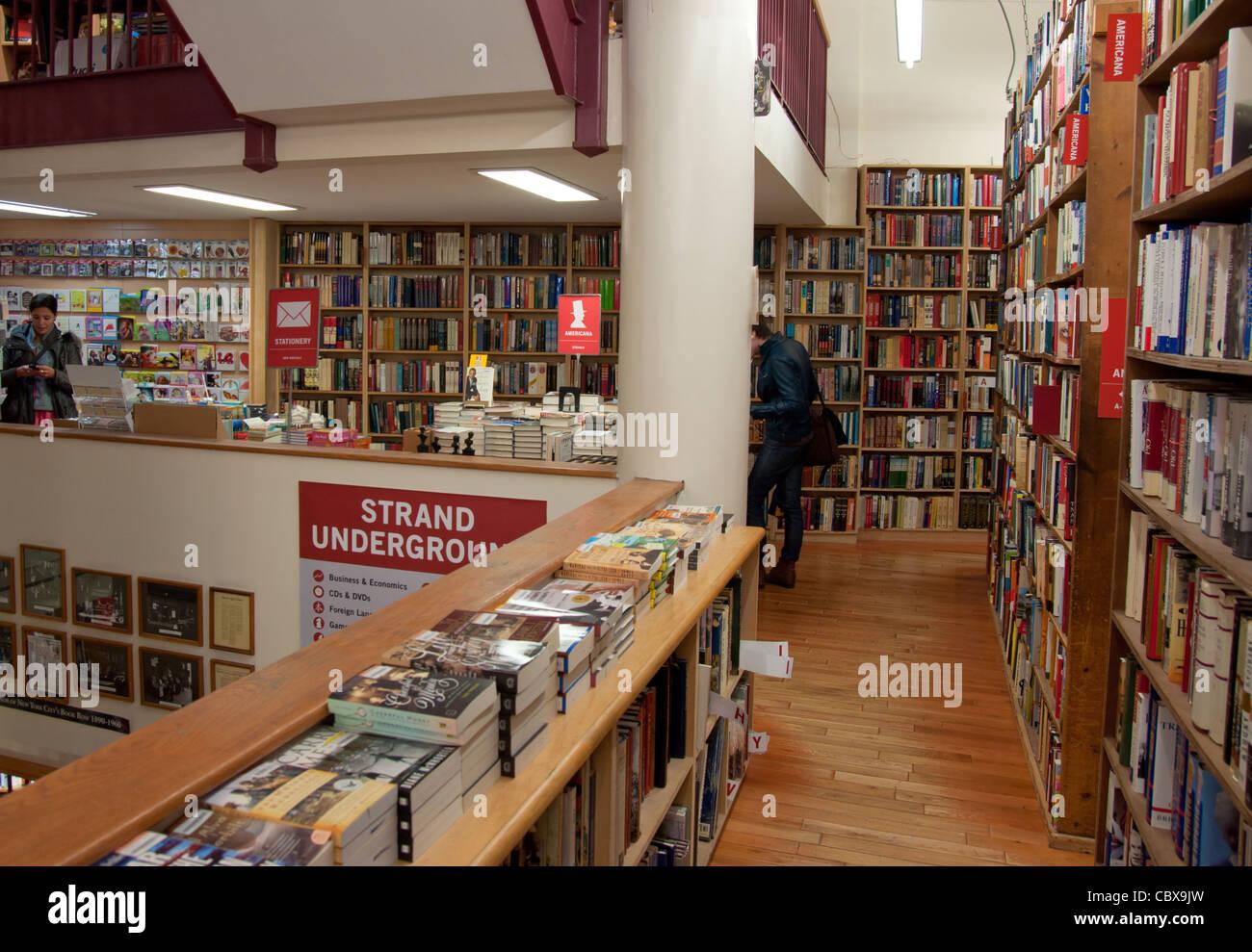 Strand Famous Bookstore on 828 Broadway, Manhattan (New York City) - Stock Image