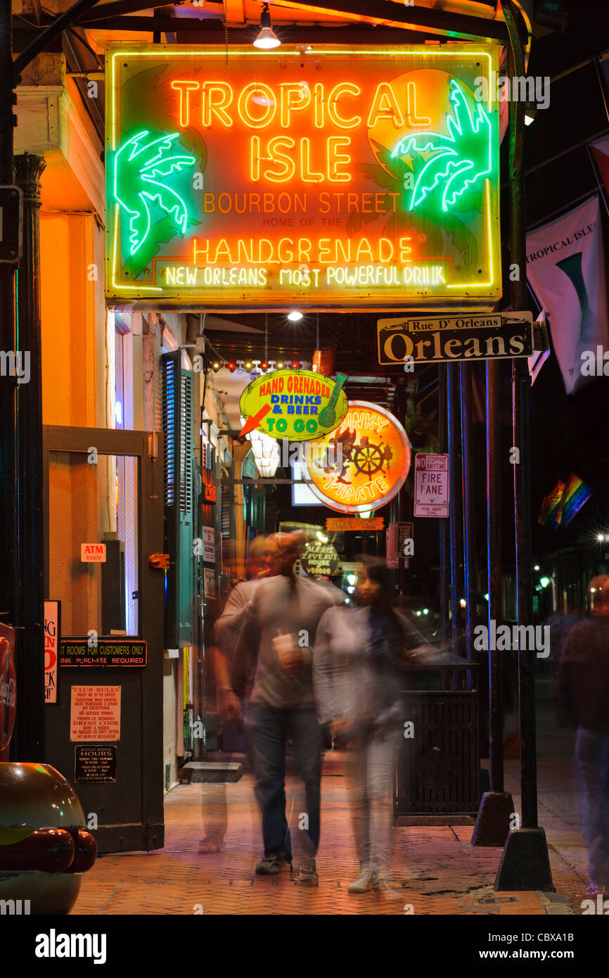 Tropical Isle live music club, New Orleans - Stock Image