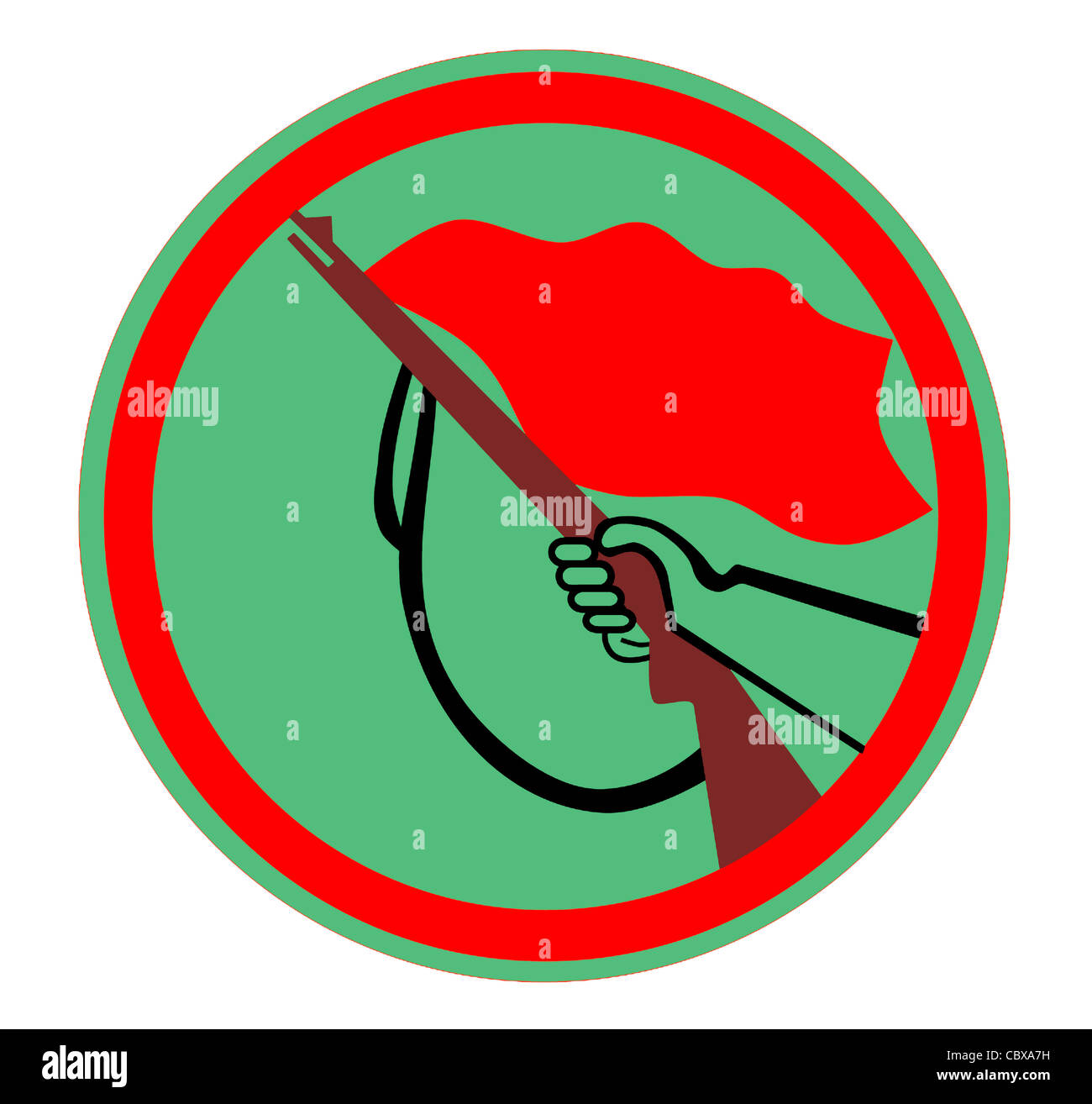 """Logo of paramilitary workers organization """"Combat Groups of the Working Class"""" the GDR. - Stock Image"""