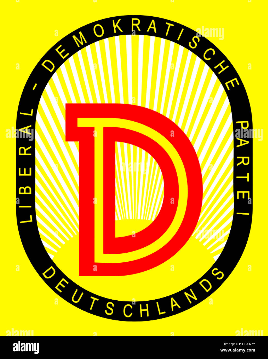 Logo of the Liberal Democratic Party of Germany LDPD of the GDR. - Stock Image