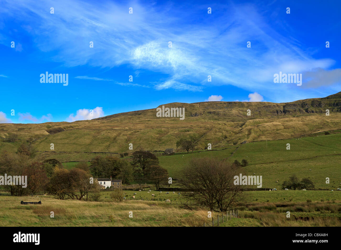 Mallerstang Dale, Cumbria, UK. Mallerstang is a Dale at the head of the Eden Valley. - Stock Image
