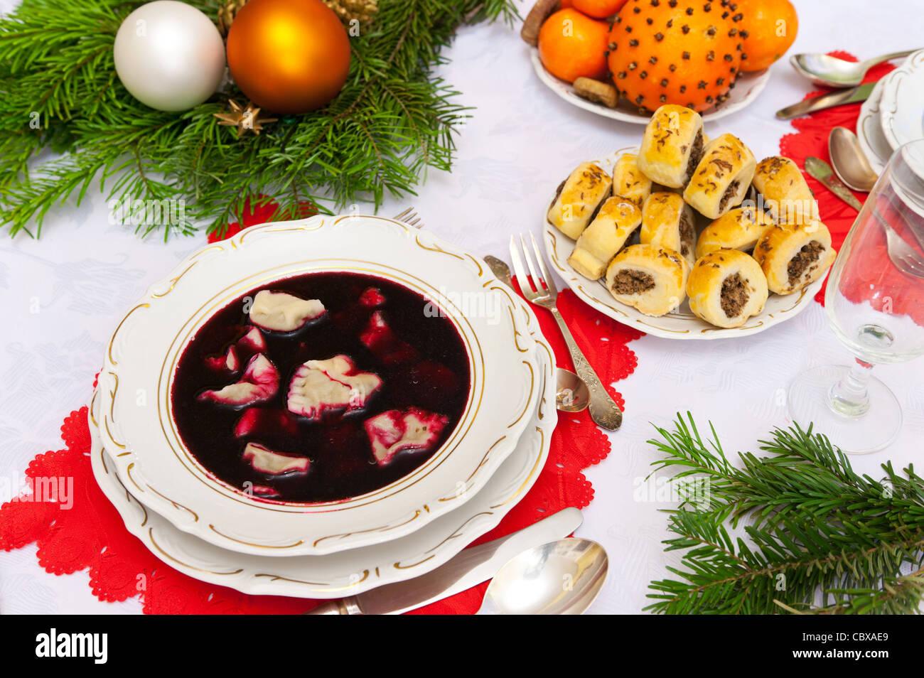 Traditional polish christmas stock photos traditional polish traditional polish christmas dinner soup stock image forumfinder Choice Image