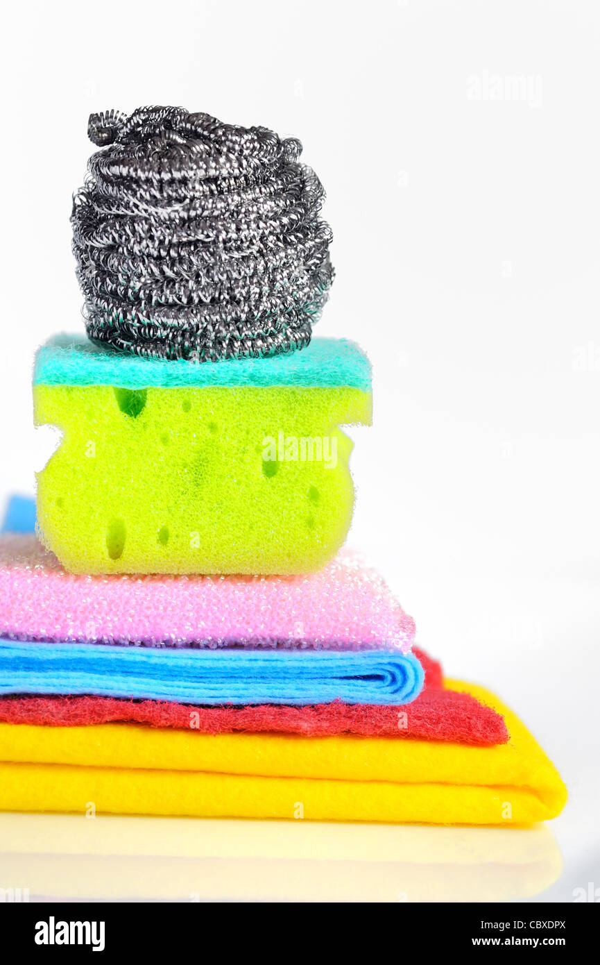 Assortment of means for cleaning - Stock Image