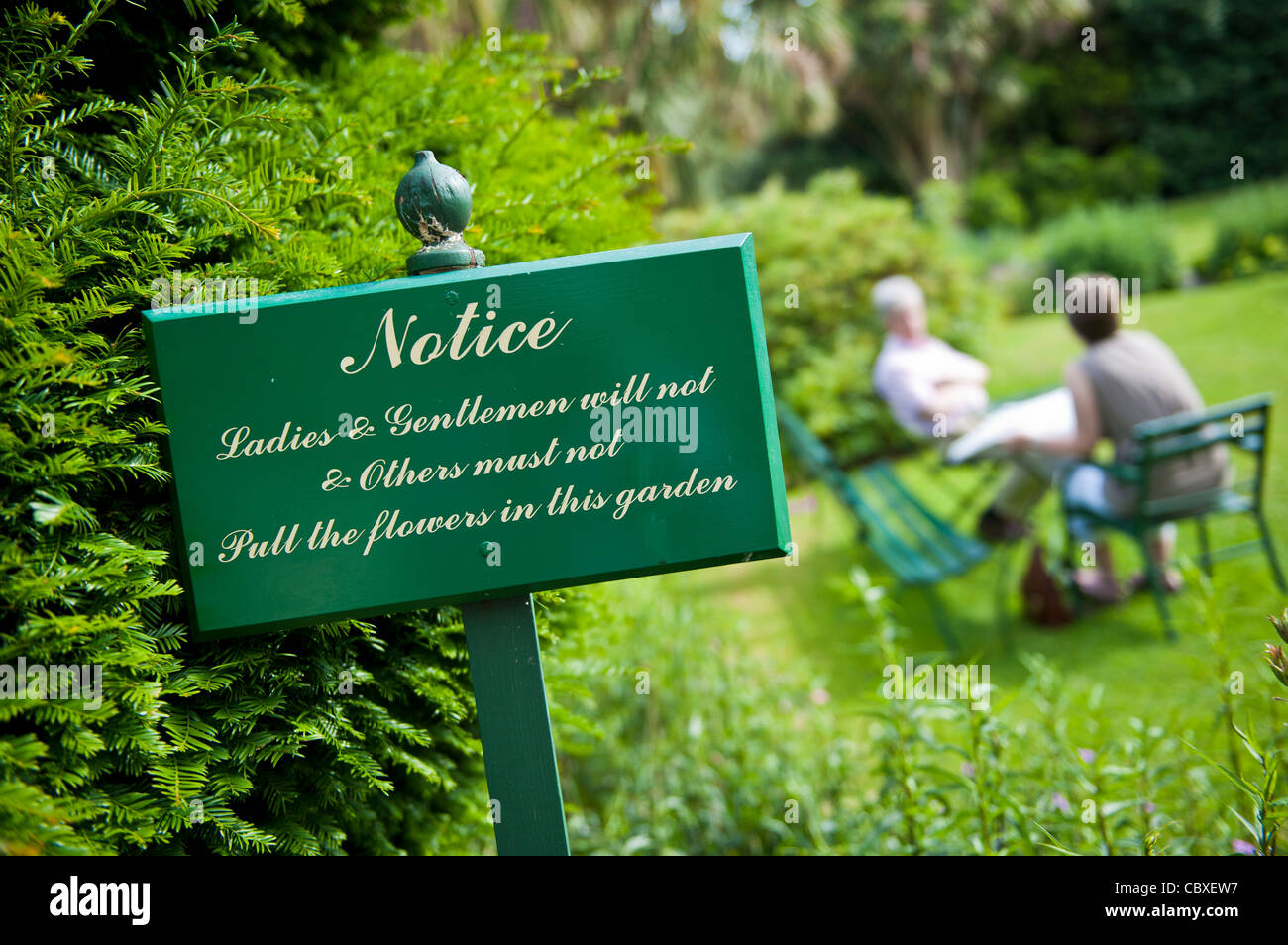 Sign in the garden of Hunters Hotel, Rathnew, Co Wicklow, Ireland Stock Photo