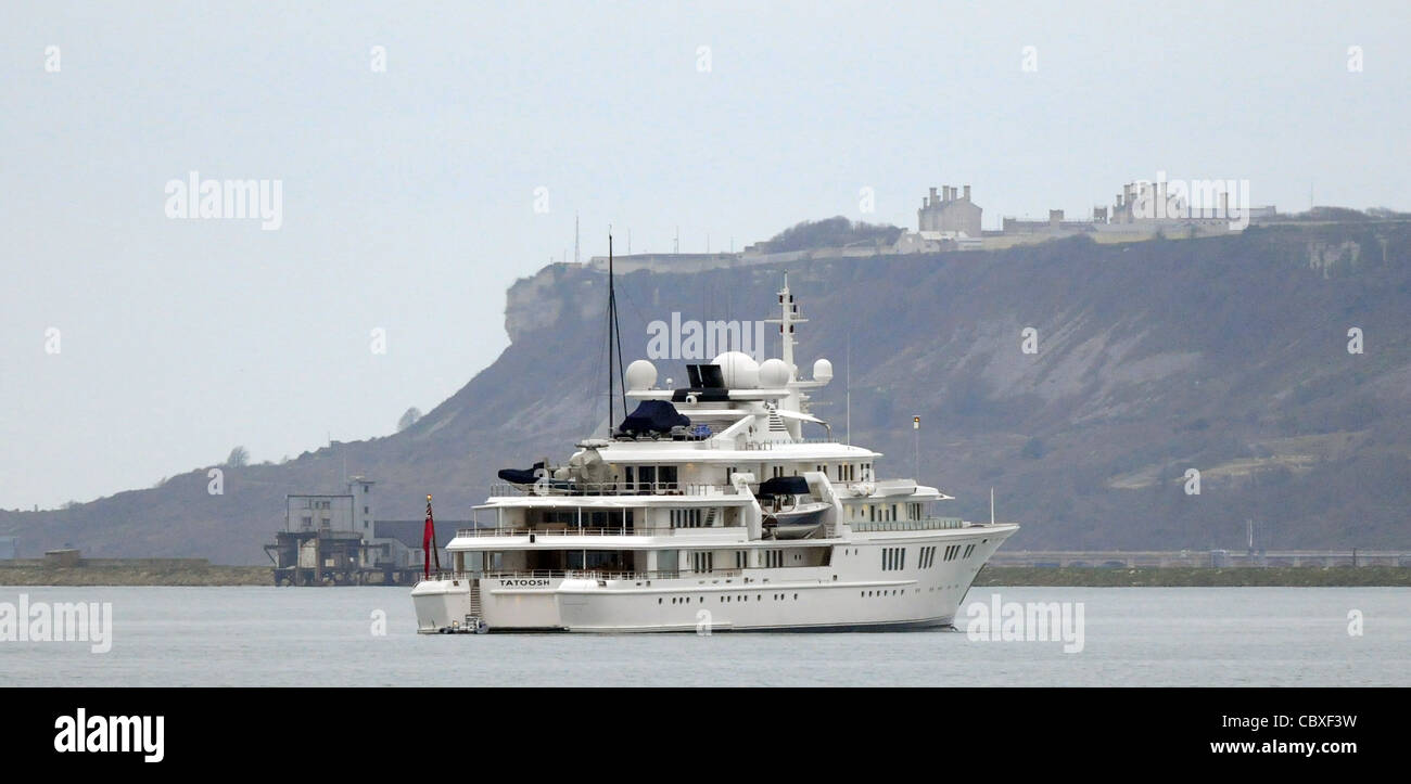 Tatoosh is a 303-foot (92 m) private Super-yacht owned by Microsoft co-founder Paul G. Allen - Stock Image