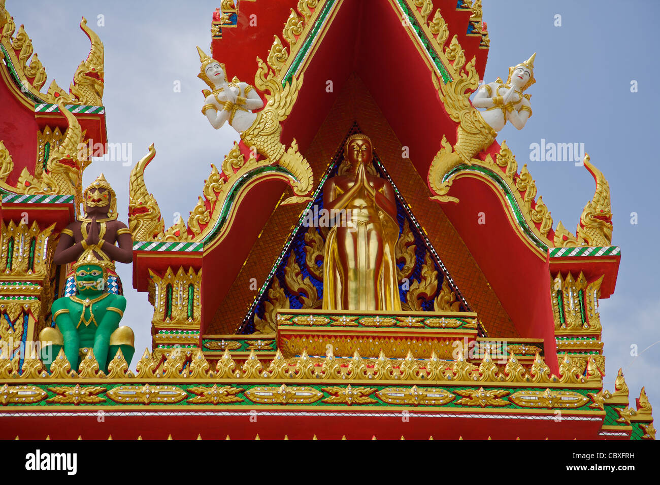 Detail on a temple in Phuket Thailand - Stock Image