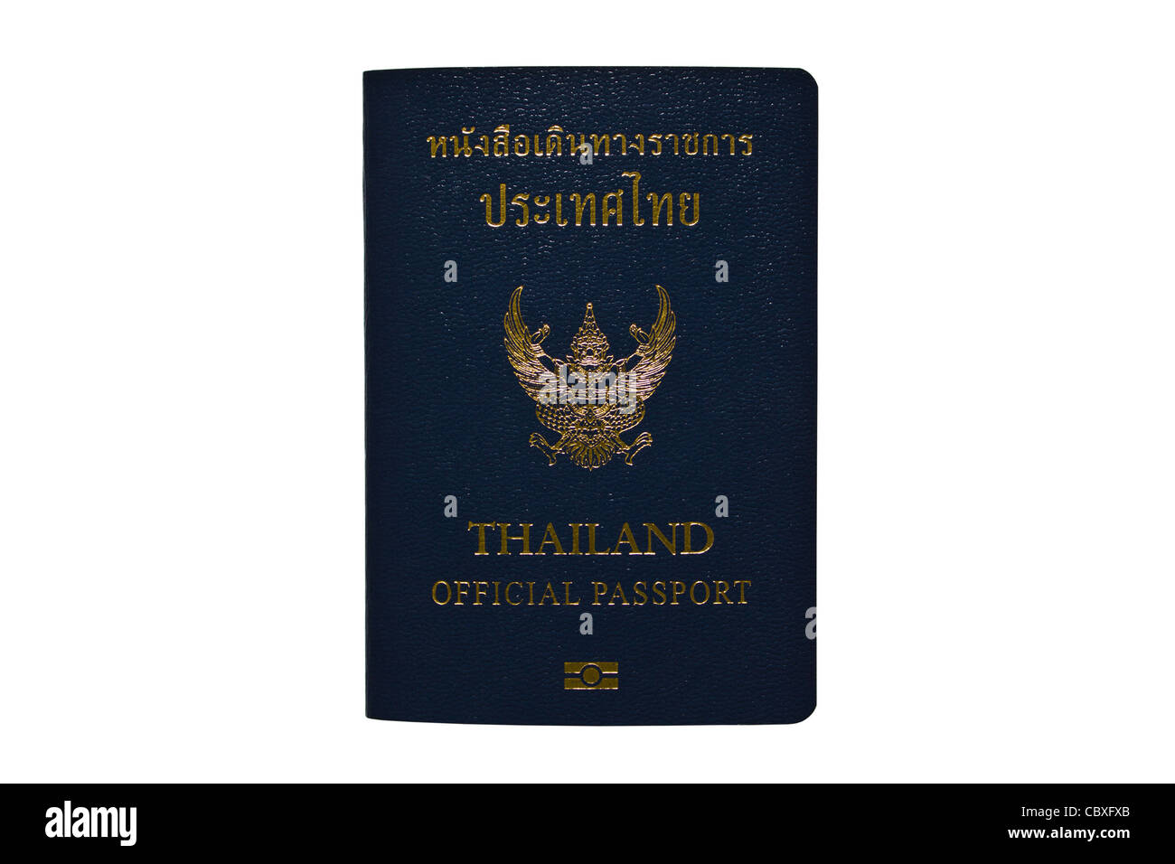 Thailand Official Passport Isolated on White Blackground Stock Photo