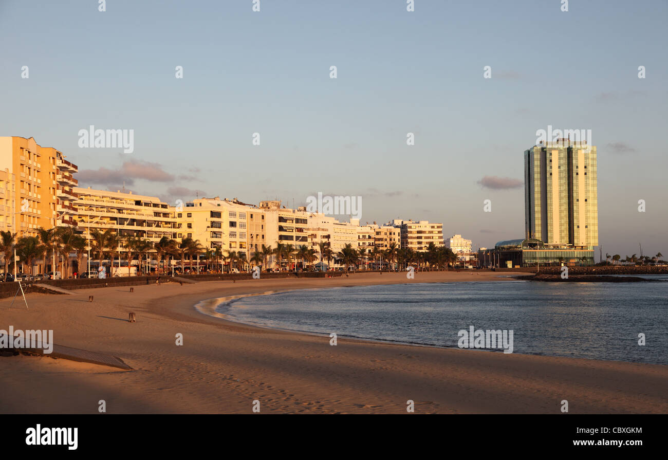 Beach of Arrecife, Canary Island Lanzarote, Spain - Stock Image