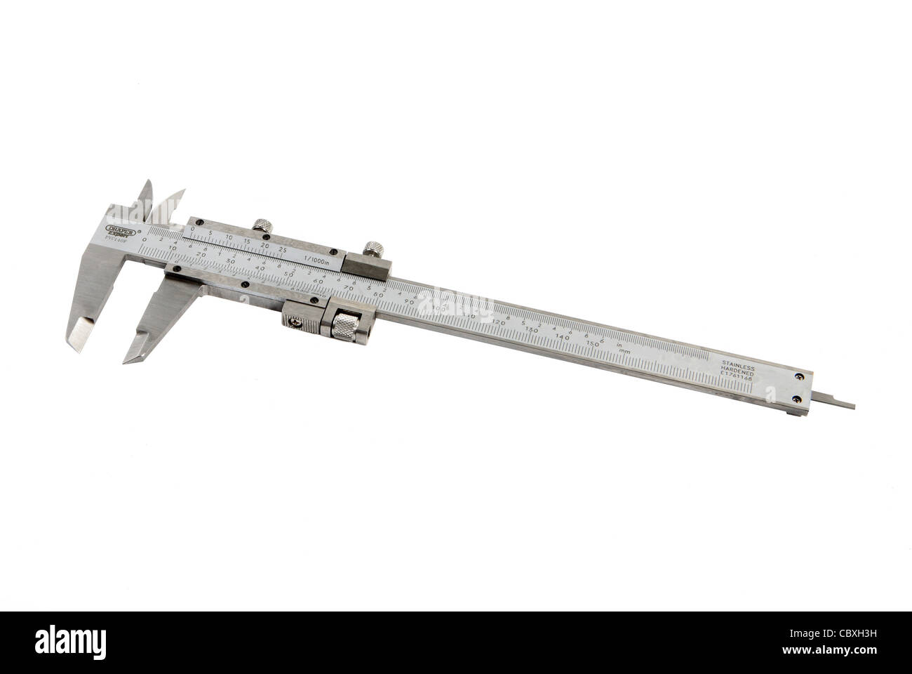 Vernier caliper measurement - Stock Image