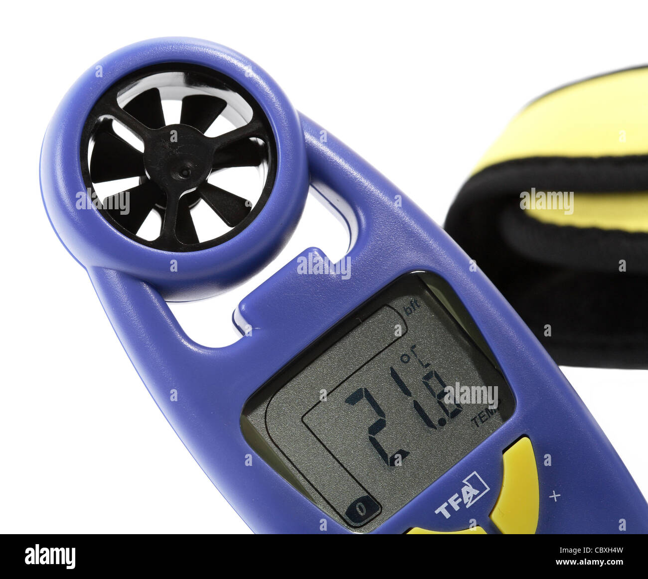 Wind speed meter - Stock Image