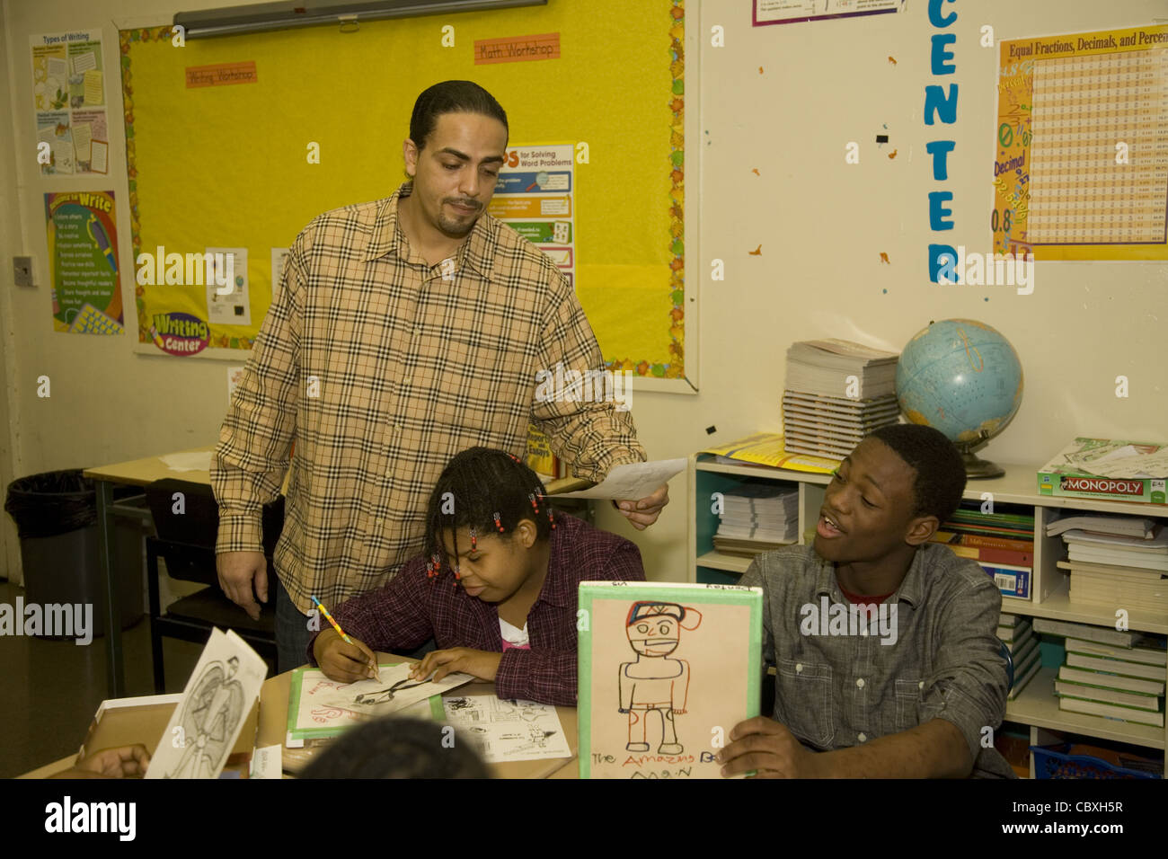 Special Education public middle school for kids with emotional and other developmental problems in Brooklyn, New - Stock Image