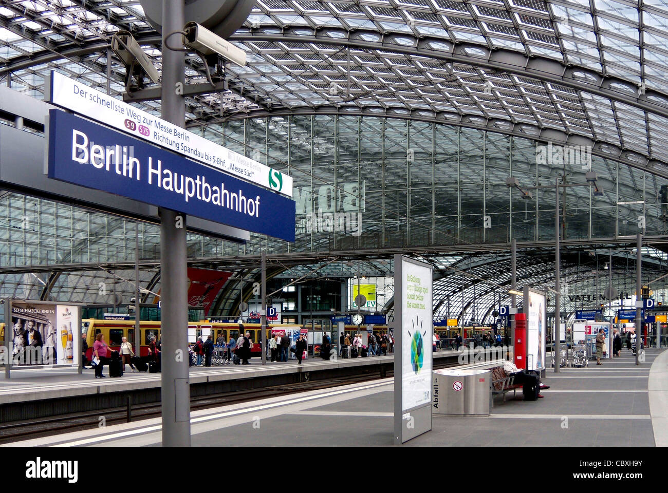 Central train station of Berlin. Stock Photo