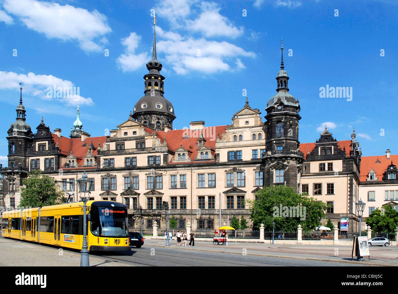 Residence castle in Dresden. Stock Photo