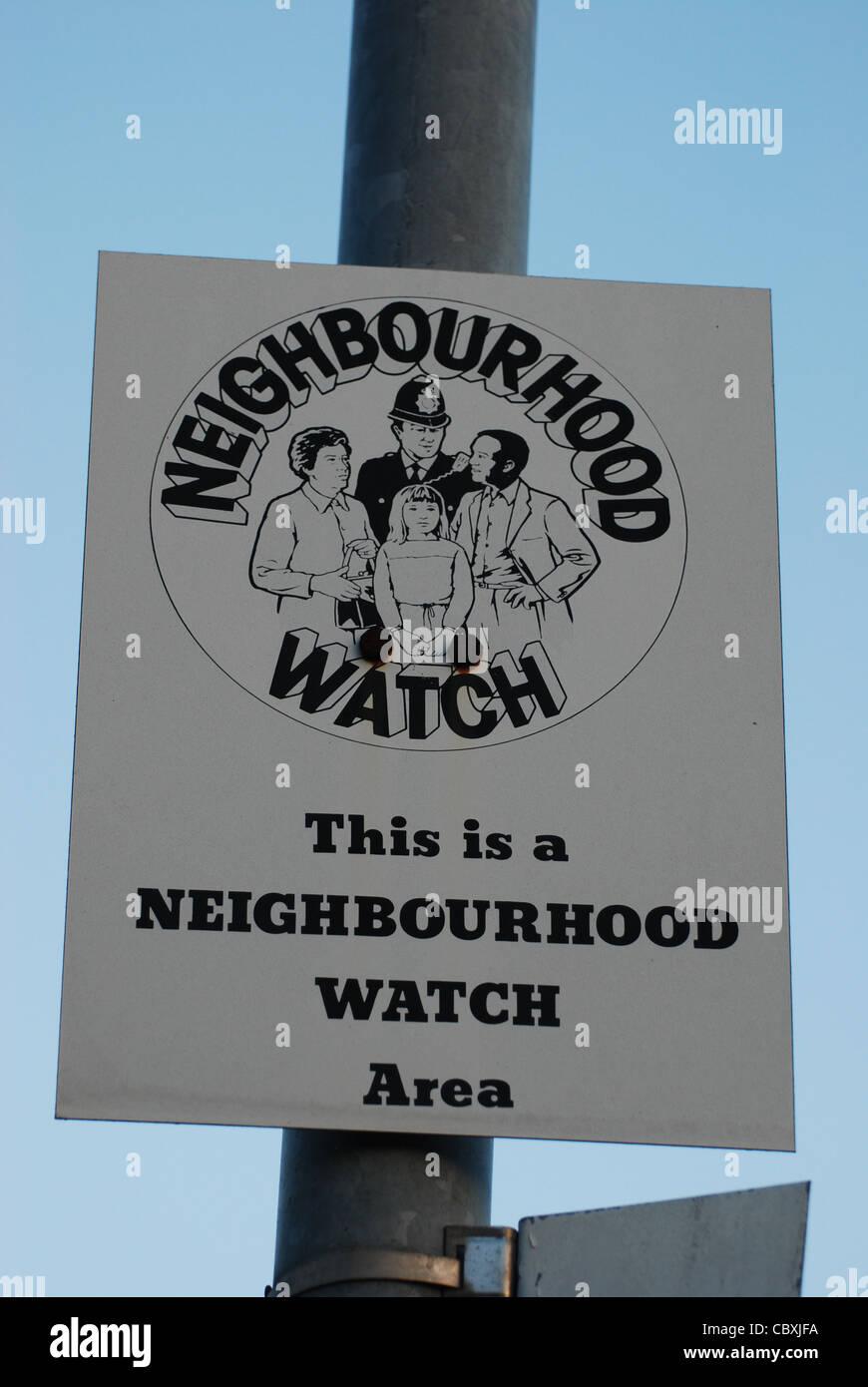 Neighbourhood watch sign UK - Stock Image