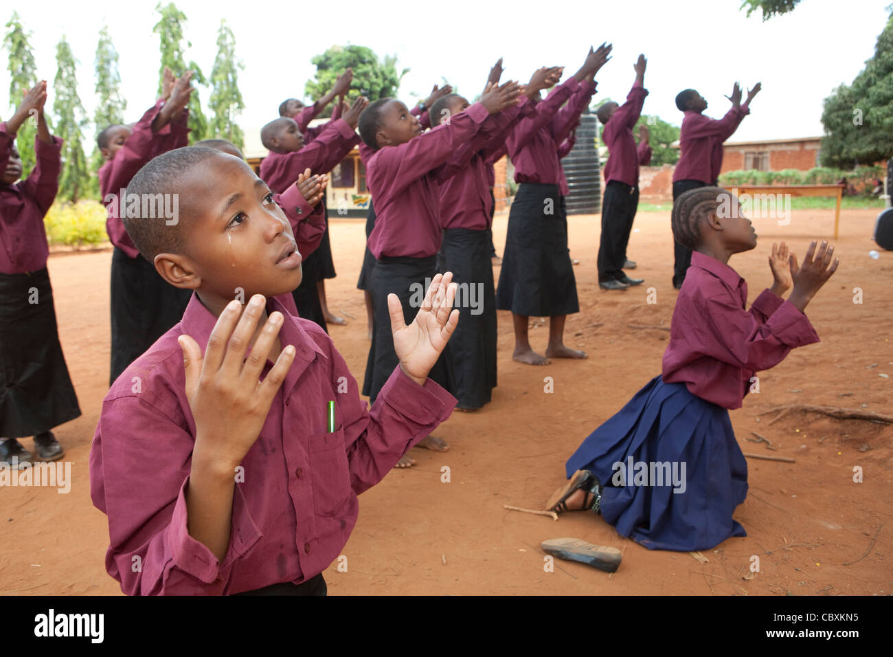 A children's church choir performs in Morogoro, Tanzania, East Africa. - Stock Image