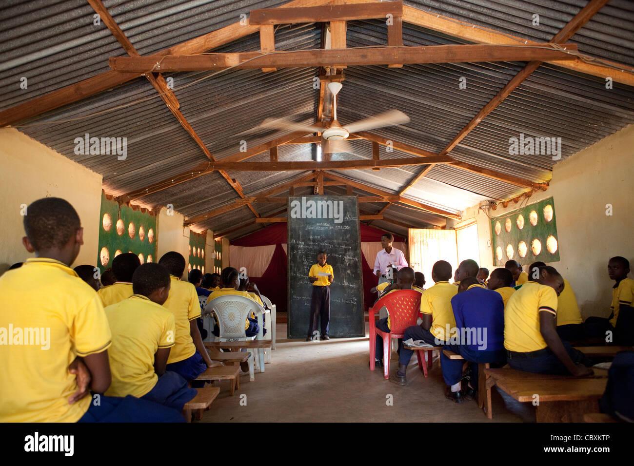 Classroom in Morogoro, Tanzania, East Africa. - Stock Image
