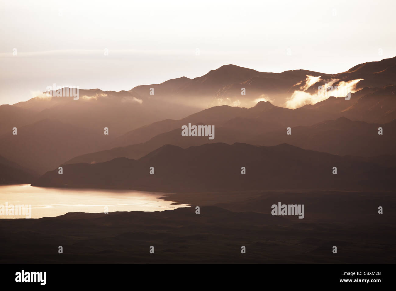 Evening in the Mountains - Stock Image