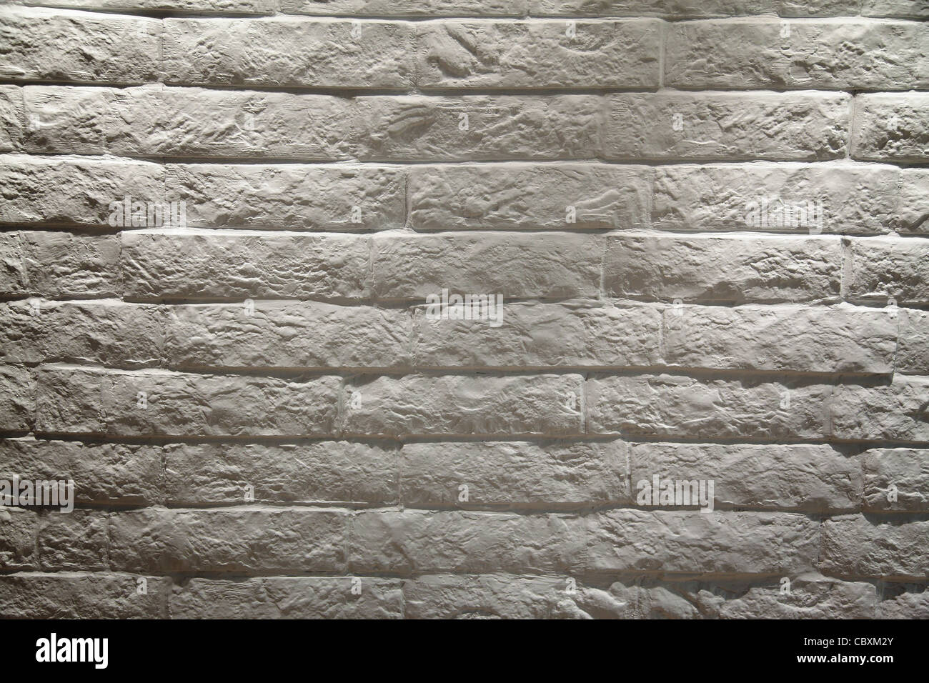 White brick wall background - Stock Image