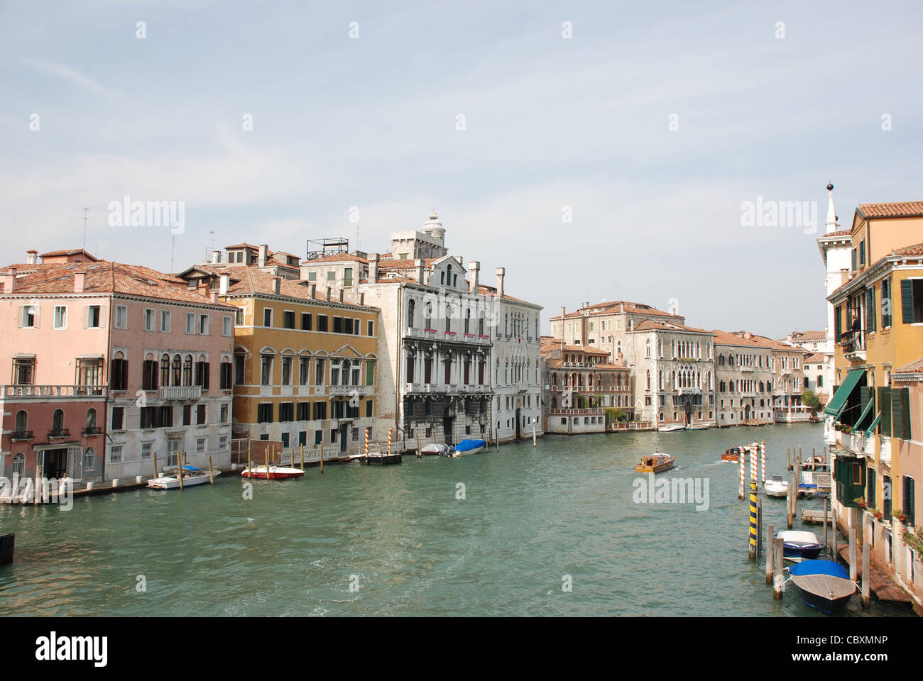 Grand Canal in Venice from Academia Bridge - Stock Image