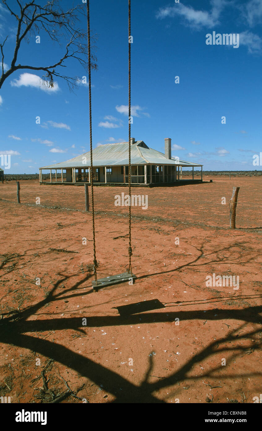 Moorna Station in the Murray Outback of Wentworth, New South Wales, Australia - Stock Image