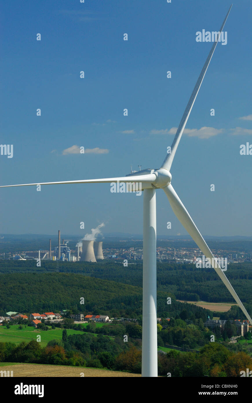 Aerial View Of An Alternator And Propeller Of A Wind Turbine With On Stock Photo Alamy
