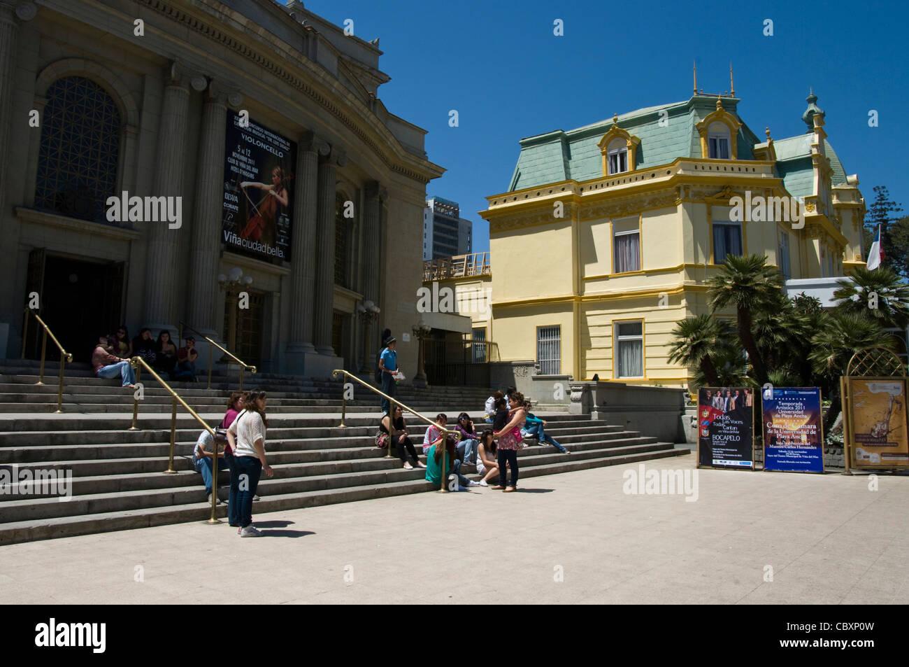 Chile. Viña del Mar city. Municipal Theater. - Stock Image