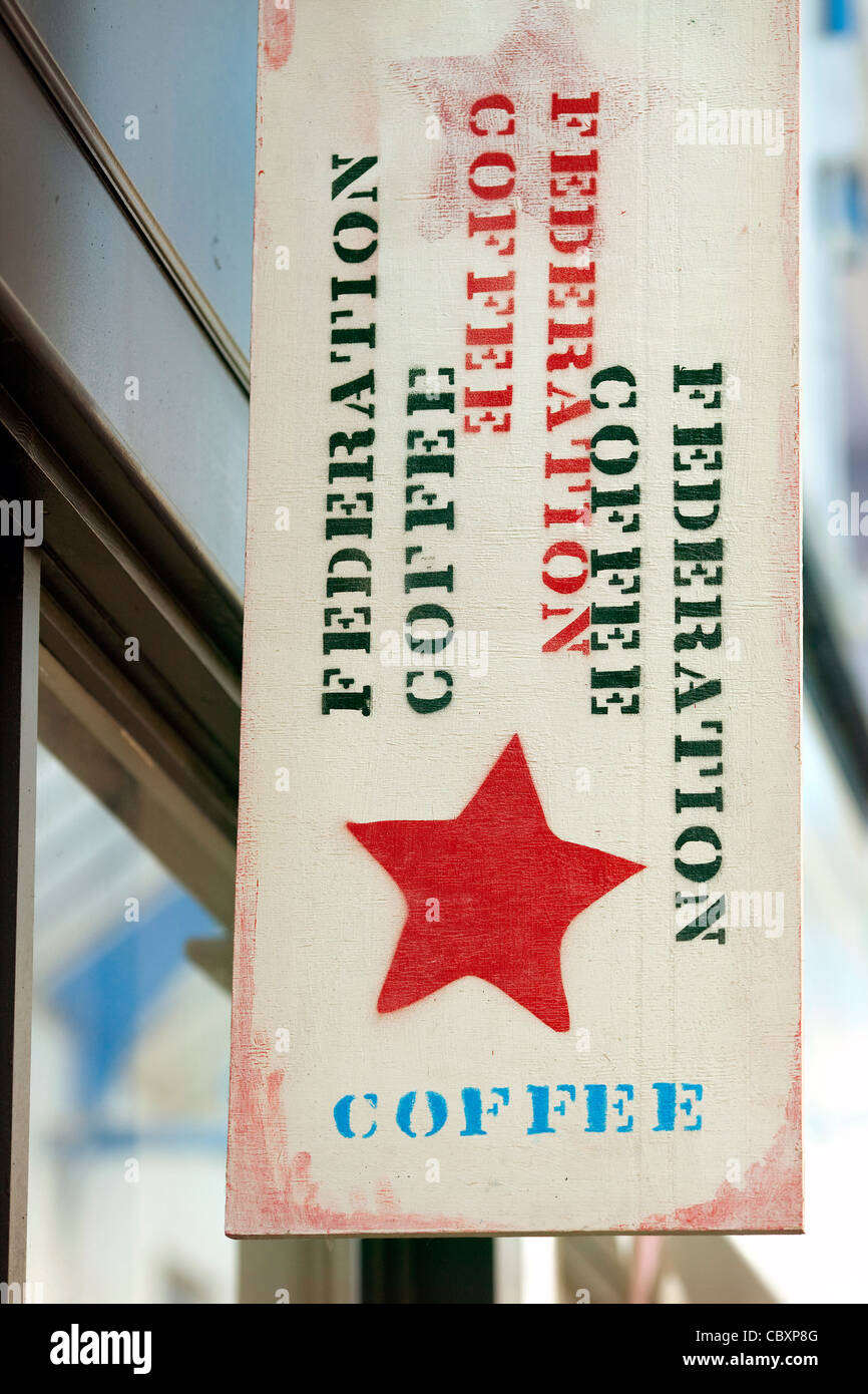 Federation coffee in Brixton Village Market - Stock Image
