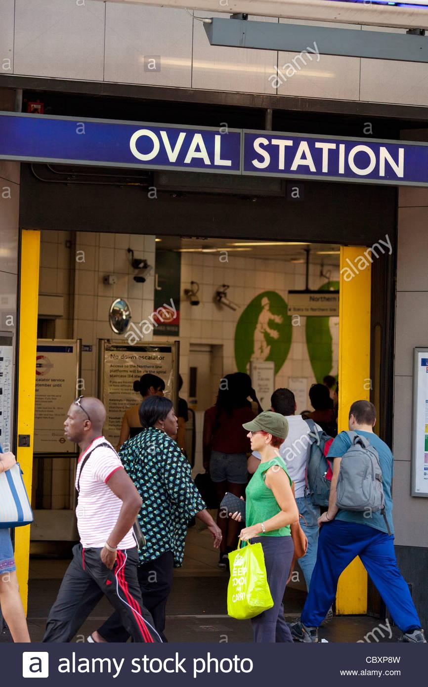 Oval Station - Stock Image