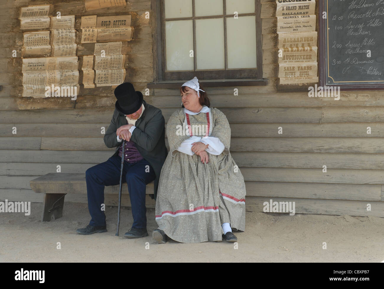 One of Australia's most popular attractions is the animated gold rush open-air museum of Sovereign Hill in Ballarat, - Stock Image