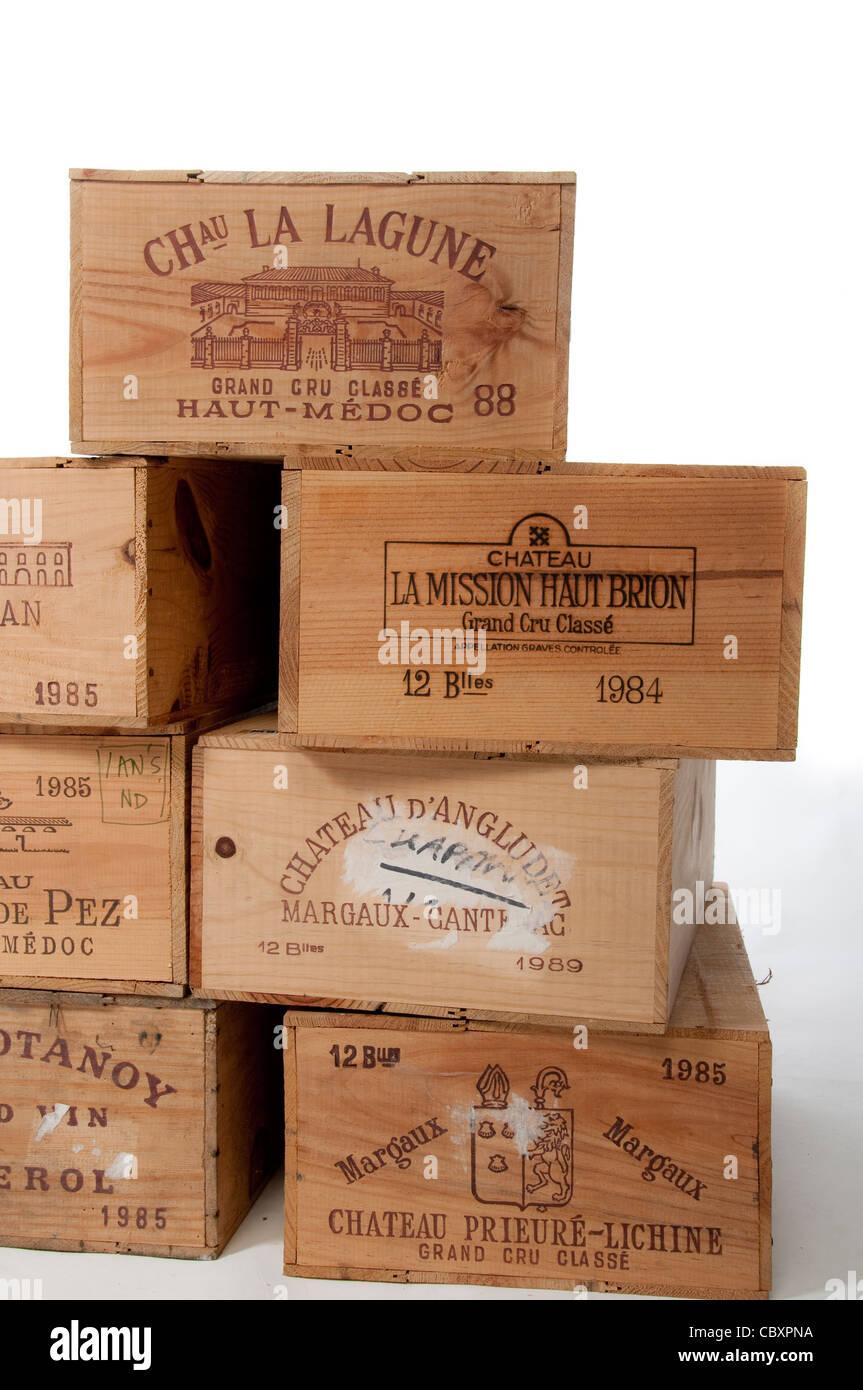 Wine Boxes Stock Photo