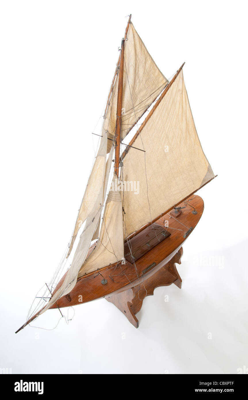 Old Model Yacht Stock Photo