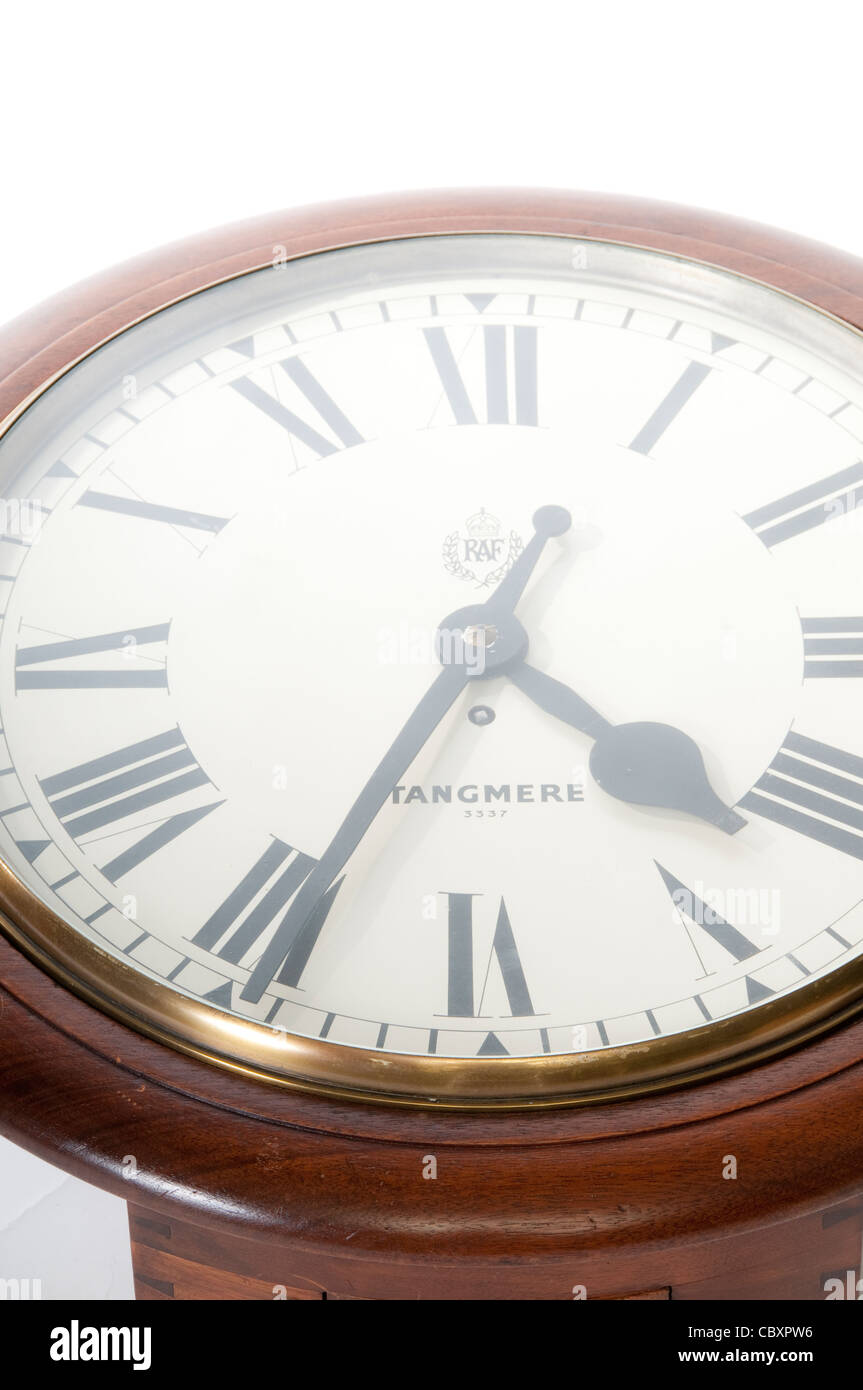 Antique Clock from RAF Tangmere Stock Photo