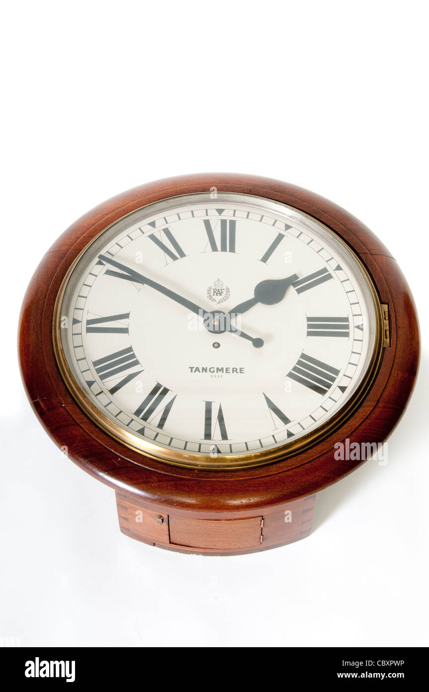 Antique Clock from RAF Tangmere - Stock Image