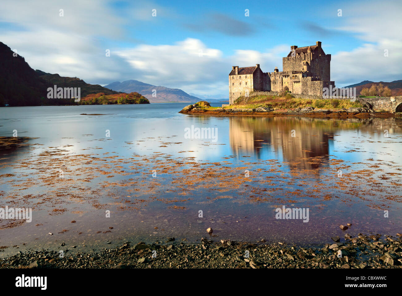 Eilean Donan Castle near Dornie in the Scottish Highlands. - Stock Image