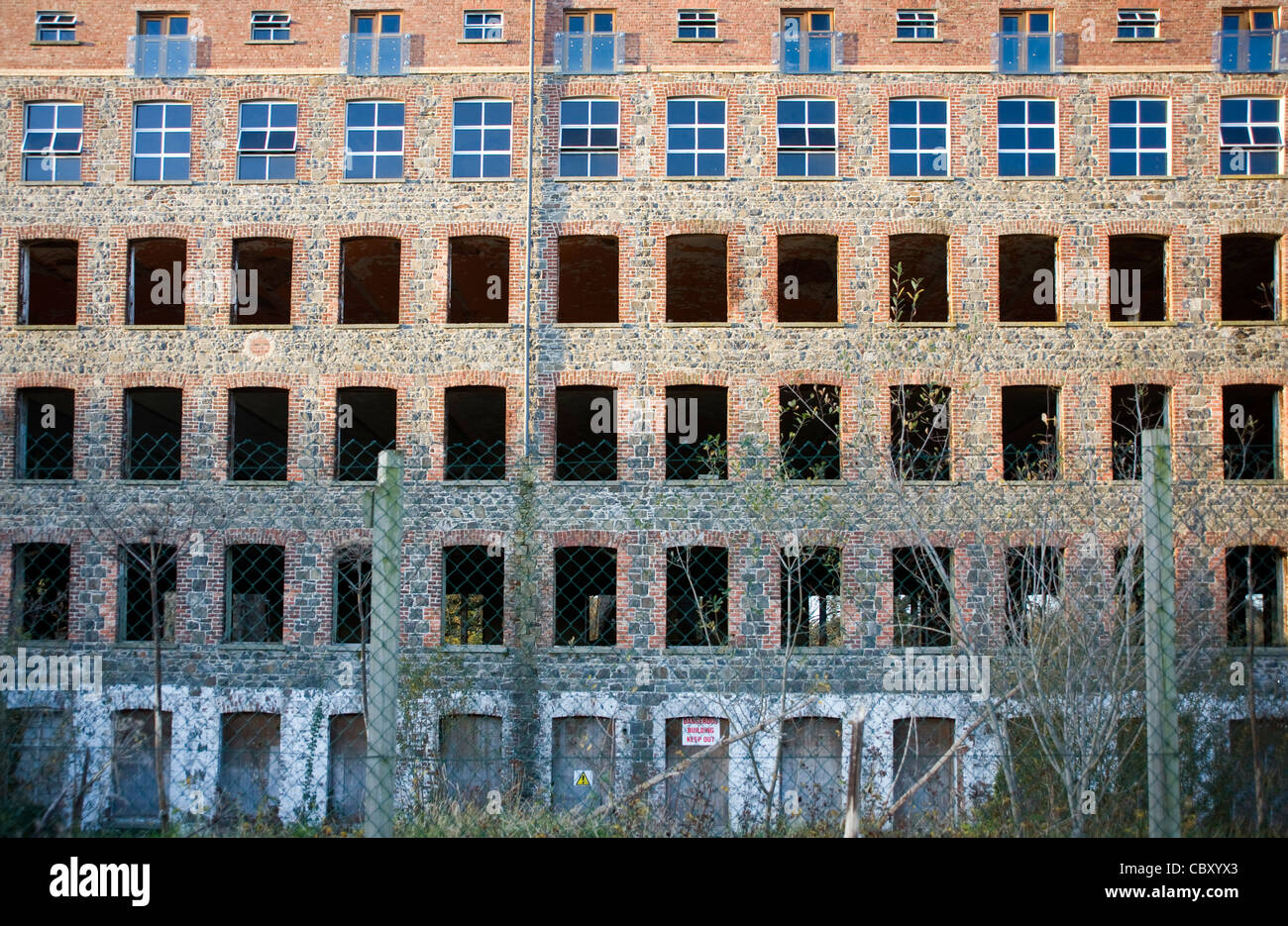 Derelict linen mill, Gilford, County Down, Northern Ireland. - Stock Image