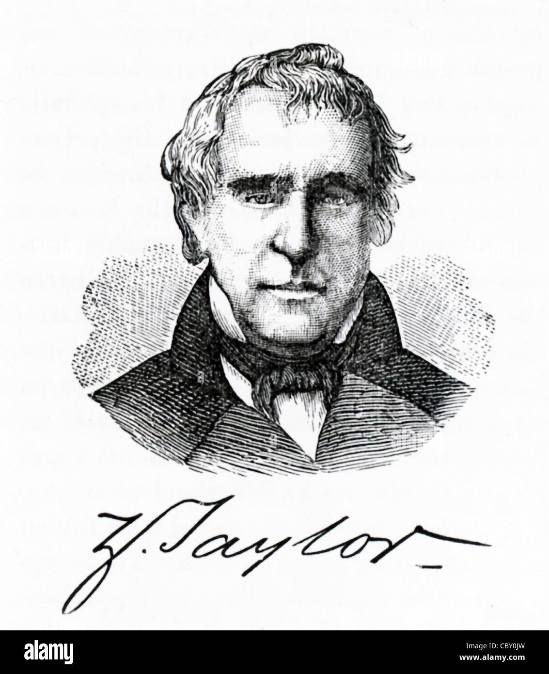 Zachary Taylor (1784-1850) was the 12th President of the United States and had the nickname of 'Old Rough and - Stock Image