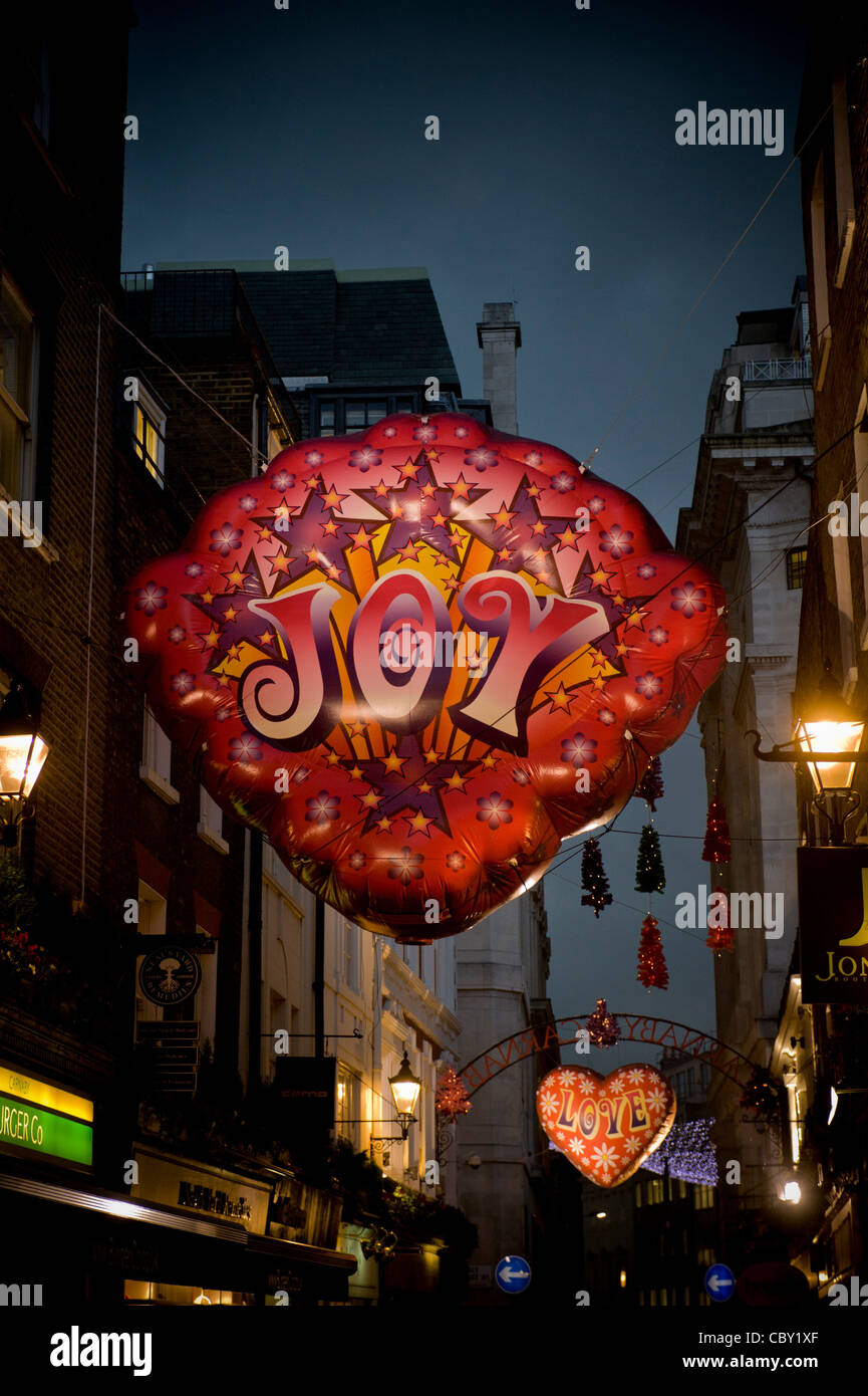 Inflatable Christmas decorations in Carnaby street, London, - Stock Image