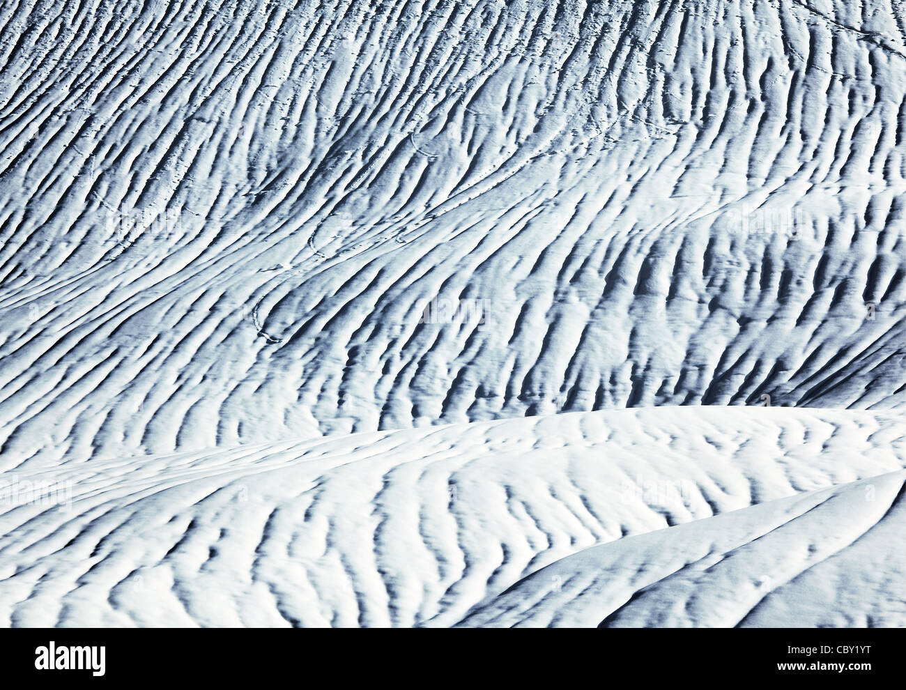 Abstract snow background, texture and pattern of nature - Stock Image