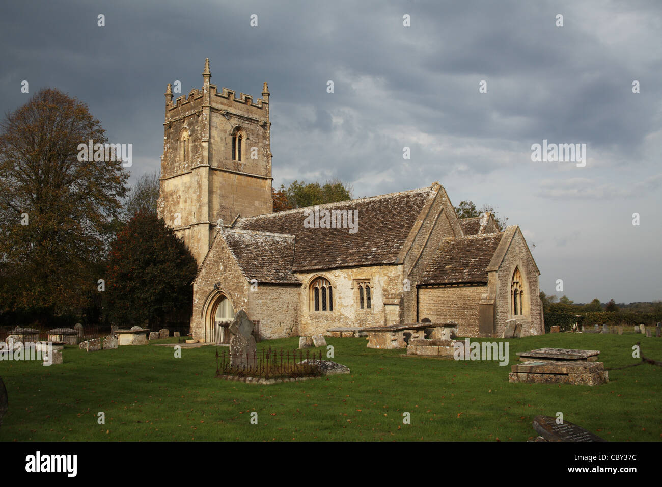 Church of the Holy Cross, Hankerton, Wiltshire, England - Stock Image