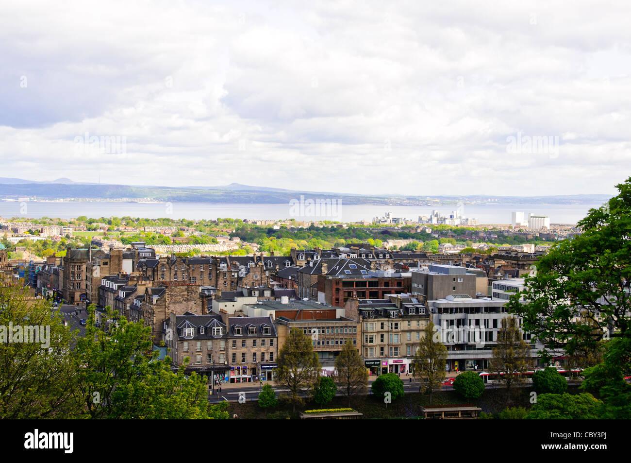 Views of Edinburgh Castle,Grounds,Half Moon Cannon Battery,Palace,Scottish National War Memorial,Edinburgh,Scotland - Stock Image