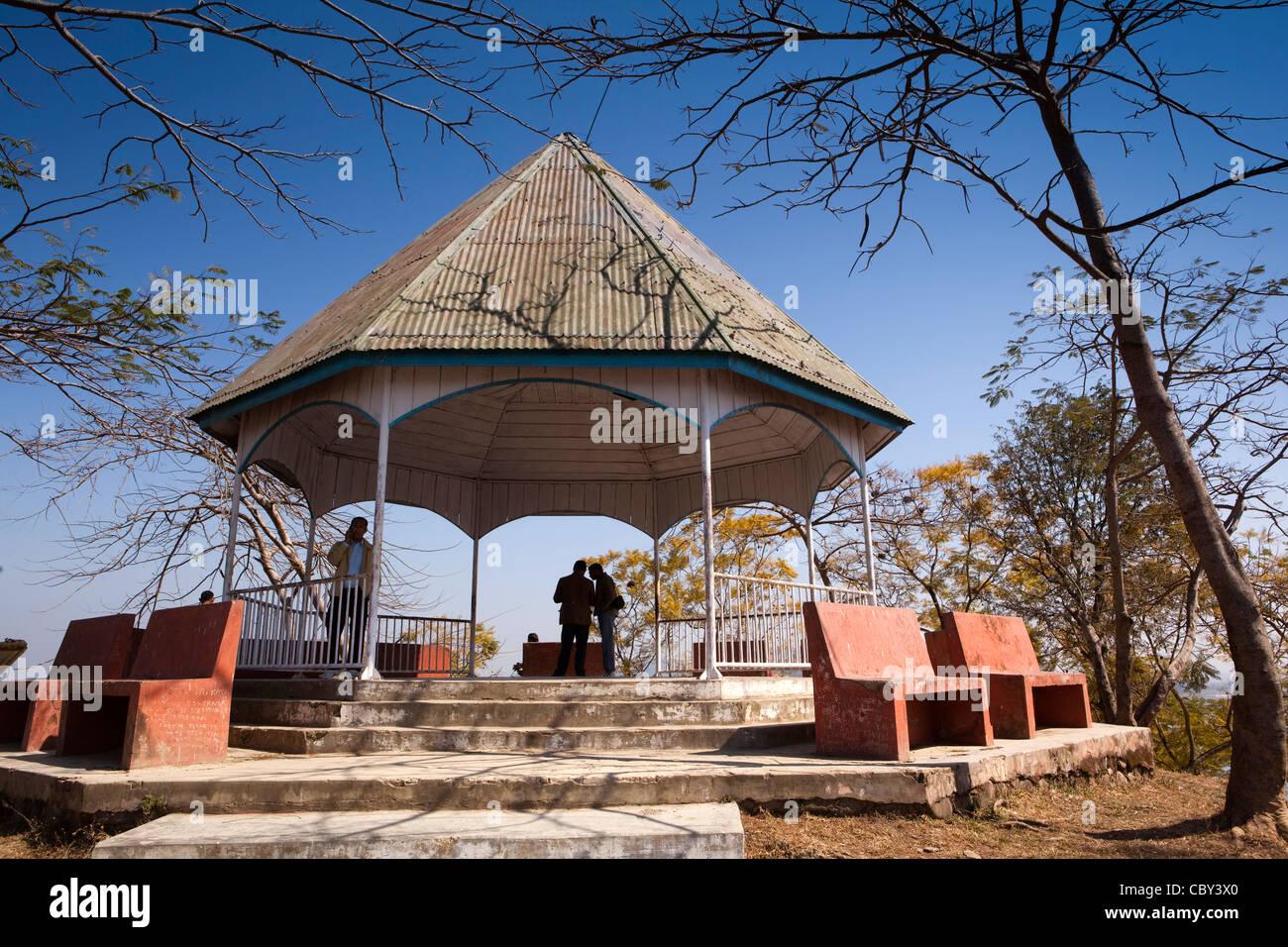 India, Manipur, Imphal, Loktak Lake, Sendra Island viewpoint - Stock Image