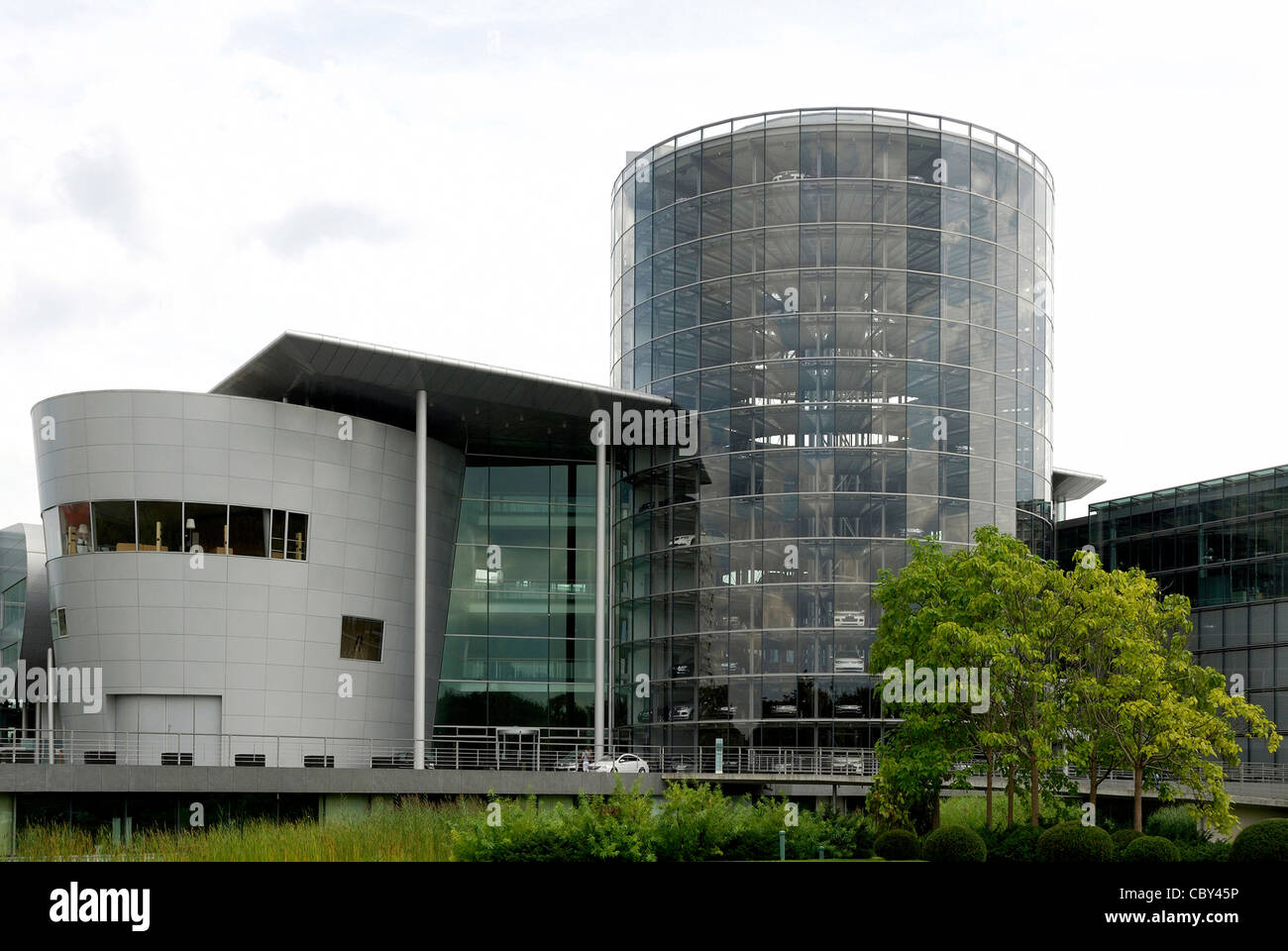 Glassy manufactory of the Volkswagen group in Dresden. - Stock Image
